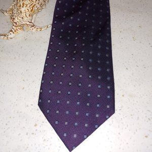 100% Silk Hand Made Purple Tie